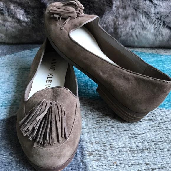 e023adcbb59 Anne Klein Shoes - Anne Klein Suede Darcy Tassel Loafers